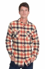Grizzly Mens Woodsman Vintage Original Buffalo Western Shirt - Russet
