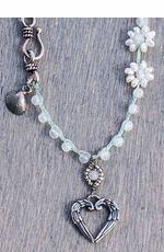 "Harper Belle Beach 17"" Beaded Necklace with Heart Pendant"