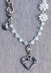 "Harper Belle Beach 17"" Beaded Necklace with Heart Pendant (Closeout)"