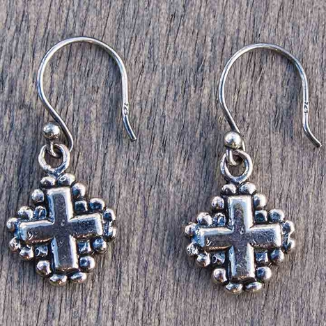 Harper Belle Revive Sterling Silver Cross Earrings (Closeout)