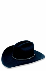 """Hazer"" 6X Black Felt Cowboy Hat by Wrangler Hats"
