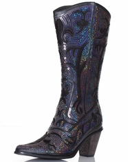 Helen's Heart Women's Sequin Boot - Blue