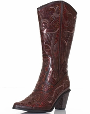 Helen's Heart Women's Sequin Boot - Red