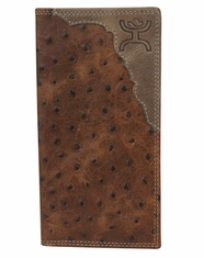 Hooey Men's Signature Ostrich Print Rodeo Wallet - Brown