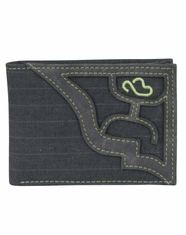 Hooey Men's Signature Pin Stripe Bi-Fold Wallet - Grey