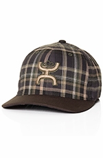 HOOey Mens Alpine Plaid Cap - Military Green/Brown