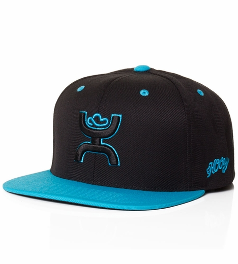 HOOey Mens Rebel Hat - Black/Turquoise