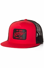 Hooey Mens Raley Trucker Hat - Red/Black
