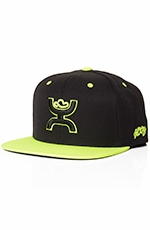 HOOey Mens Rebel Hat - Black/Neon Green