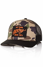 HOOey Mens Remi Camo Trucker Hat - Black