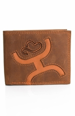 HOOey Mens Signature Bi-fold Wallet - Brown