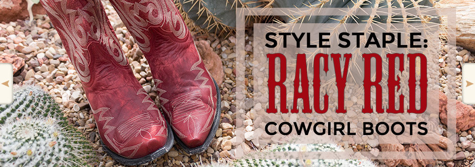 Hot Styles - Red Cowgirl Boots