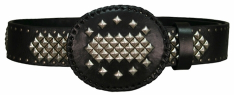 Iron Horse Men's Lobo Belt with Buckle - Black