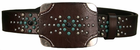 Iron Horse Women's Toro Belt with Buckle - Brown