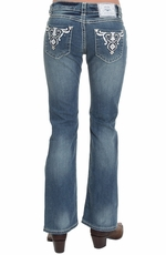 Iron Horse Womens Vienna Low Rise Boot Cut Jeans - Light Wash (Closeout)