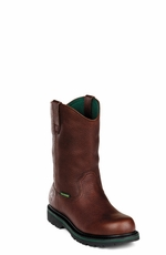 "John Deere Boots - Men's Combine II Series 10"" Waterproof Wellington (Steel Toe)"