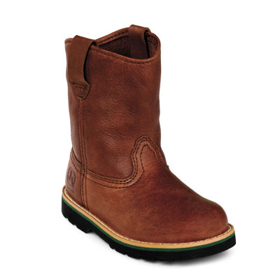 John Deere Children's Boots - Johnny Popper Wellington (Brown)