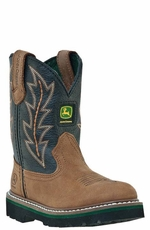 John Deere Children's Boots - Tan/Black