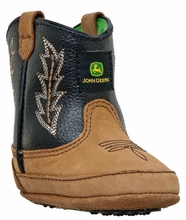 John Deere Children's Crib Boots - Tan/Black