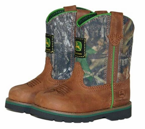 John Deere Infant Boots - Wellington - Brown/Camo (Closeout)