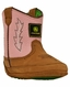 John Deere Infant's Wellington Soft Sole - Pink/Brown (Closeout)