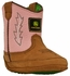 John Deere Infant's Wellington Soft Sole - Pink/Brown