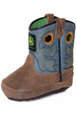 John Deere Johnny Poppers Infants Crib Boots - Sanded Blue (Closeout)
