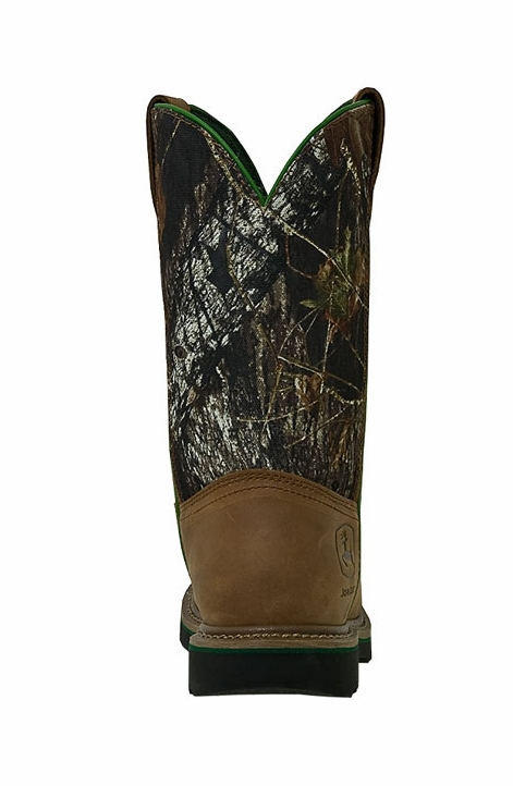"John Deere Men's 11"" Wellington Work Boots - Camo/Tan"