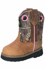 John Deere Toddlers Johnny Popper Boots - Brown/Camo