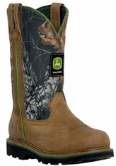 John Deere Youth Boots - Wellington - Camo/Brown (Closeout)