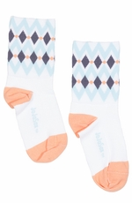 "JoJo Sox Womens Diamond 4"" Cuff Socks - White"