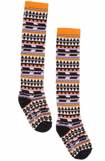 JoJo Sox Womens Tall Aztec Socks - Desert Sunset