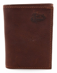 Justin Basic Trifold Wallet - Brown
