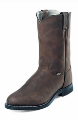 Justin Basics� Womens Roper Boots - Distressed Crazy Cow