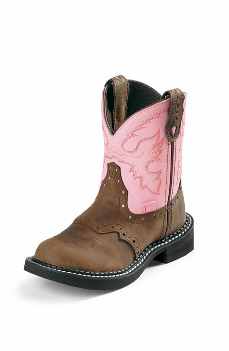 Justin Boots - Youth Gypsy Bay Apache w/ Saddle Vamp / Pink Cow