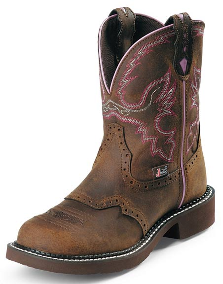 Justin Cowboy Boots Women's Gypsy Cowgirl Steel Toe Work Boots - Aged Bark
