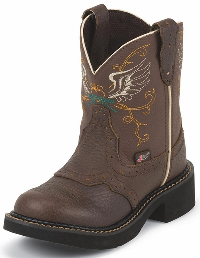 Justin Girls Gypsy Winged Heart Cowgirl Boots - Brown (Closeout)