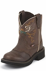 Justin Girls Gypsy Winged Heart Cowgirl Boots - Brown