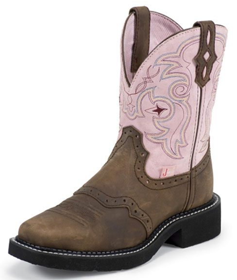 Justin Gypsy Women's Western Aged Bark Boots - Pink (Closeout)