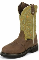 Justin Gypsy Womens Composite Toe Work Boots - Barnwood Cow (Closeout)