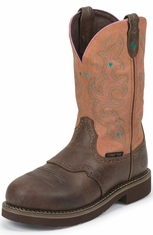 Justin Gypsy Womens Composite Toe Work Boots - Waxy Brown (Closeout)