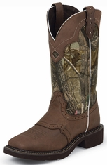 Justin Gypsy Womens Square Toe Cowboy Boots - Camo/Brown