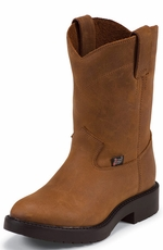 Justin Juniors Workboots Youth's Ropers - Aged Bark (Closeout)