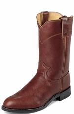 "Justin Men's 10"" Classic Roper Cowboy Boots - Chestnut Marbled Deerlite (Closeout)"