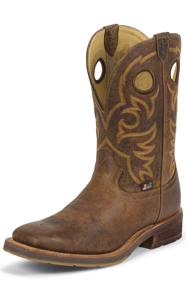 "Justin Men's 11"" 1879 Collection Cowboy Boots - Rugged Tan"