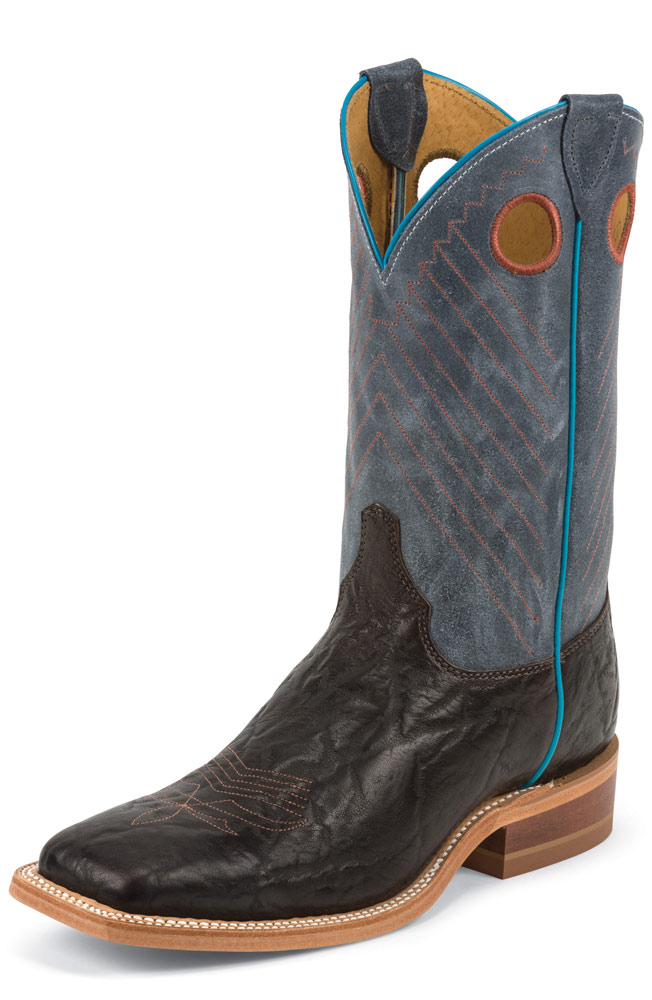 "Justin Men's 11"" Bent Rail Collection Cowboy Boots - Java Wildebeast"