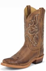 "Justin Men's Bent Rail Ridge Toe 11"" Cowboy Boots - Tan America"