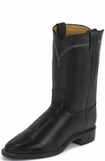 "Justin Men's Black Chester 10"" Roper Boots (Closeout)"