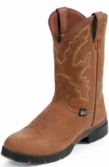 "Justin Men's George Strait 11"" Waterproof Boots - Coffee Westerner"