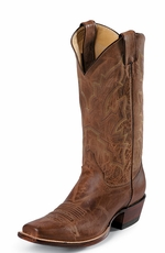 "Justin Men's Punchy 13"" Tan Distressed Vintage Goat Cowboy Boots (Closeout)"